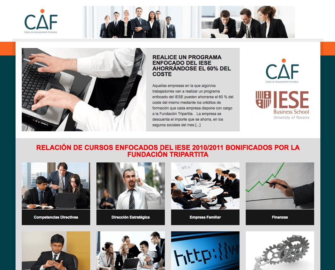 Portal web CAF (Centro de Asesoramiento Formativo)
