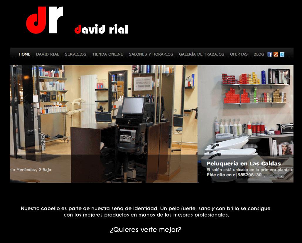 Web Peluquerías David Rial