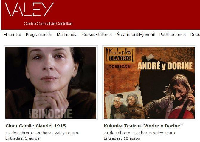 Gestión y actualización web Centro Cultural Valey