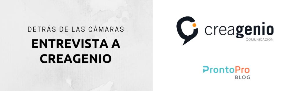 Entrevista a Creagenio en ProntoPro